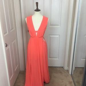 BCBGMaxazria Orange Maxi Dress